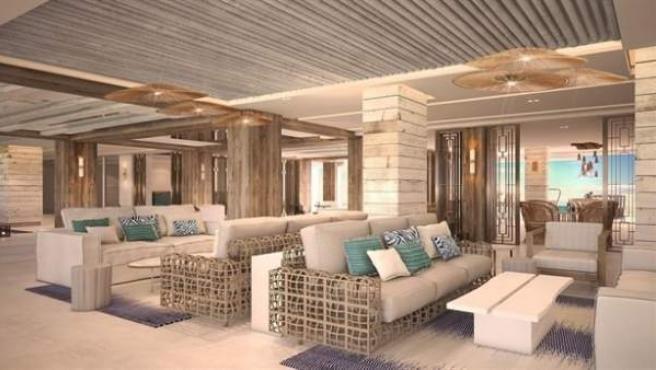 Salones del 'Nobu Hotel Ibiza Bay', el 5 estrellas de Robert de Niro en Ibiza.