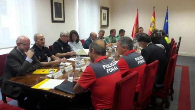 Reunión de seguridad celebrada en la Delegación del Gobierno
