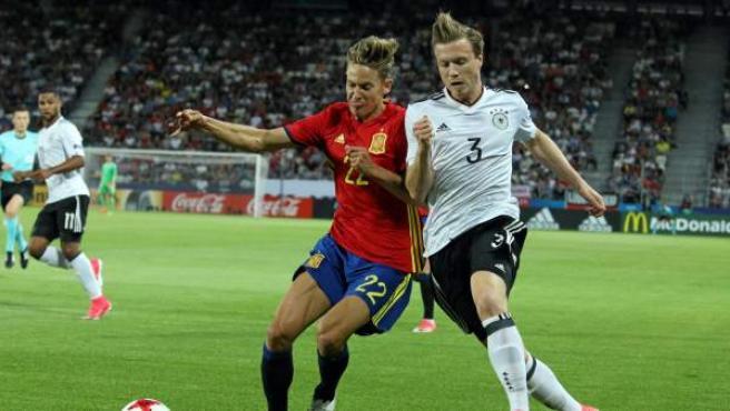 Una imagen de un lance de la final del Europeo sub-21.