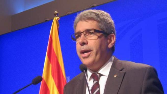 Rueda de prensa del portavoz del Govern, Francesc Homs.