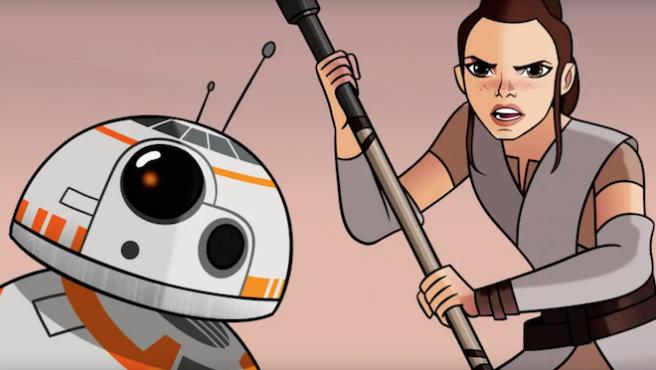 Vídeo: Así aprendió Rey ('Star Wars') a usar la Fuerza