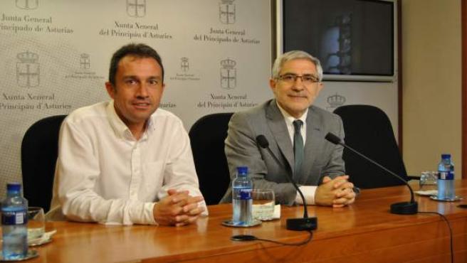 Zapico y Llamazares en la Junta General