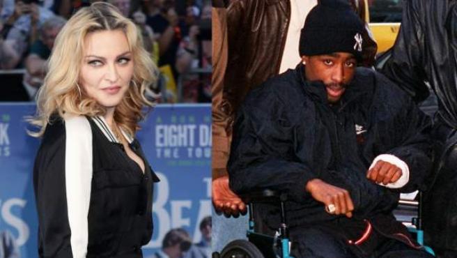 La cantante Madonna y el rapero Tupac.