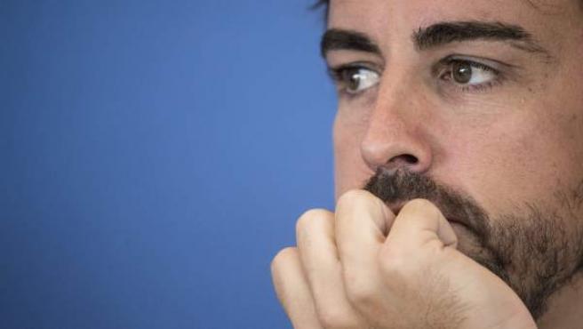 El piloto español Fernando Alonso, en Viena.