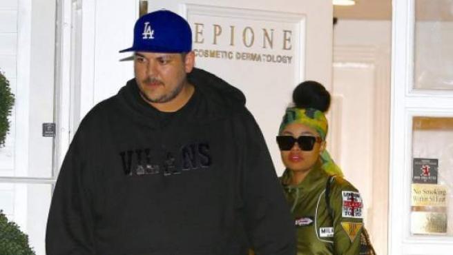 Rob Kardashian y su expareja, Blac Chyna, en una imagen de 2016.