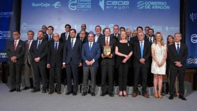 Consejo Empresarial y Gobierno entregan el Premio Empresario de Aragón 2017