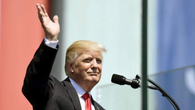 El presidente estadounidense, Donald J. Trump, pronuncia un discurso en la plaza Krasinski de Varsovia.