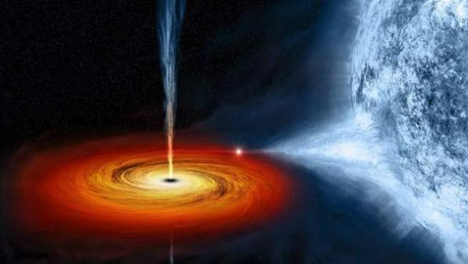 Su formación sería el resultado final de múltiples transformaciones de agujeros negros en su inverso temporal.