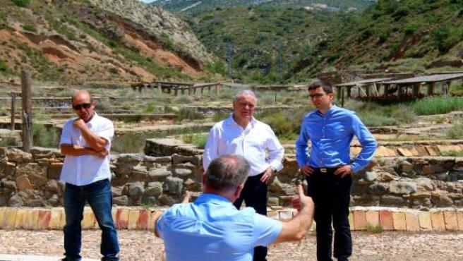 Miguel Gracia ha visitado hoy Peralta de Calasanz