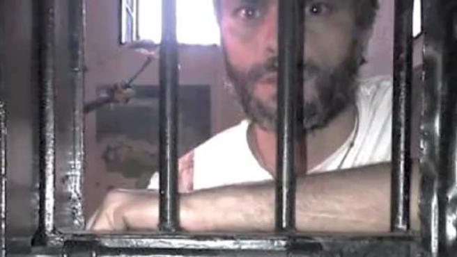 Leopoldo López, al poco de ser encarcelado en Venezuela.