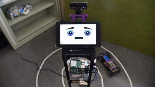 Prototipo del robot que detecta emociones desarrollado por la Universitat Politècnica de València.