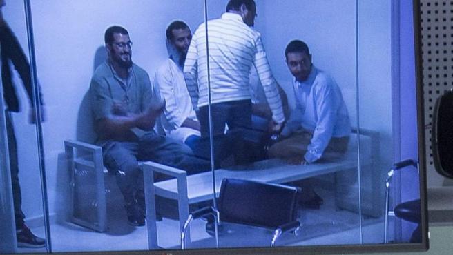 Un momento del juicio que se celebra en la Audiencia Nacional contra los seis presuntos yihadistas detenidos en 2014 en Melilla en la operación Javer.