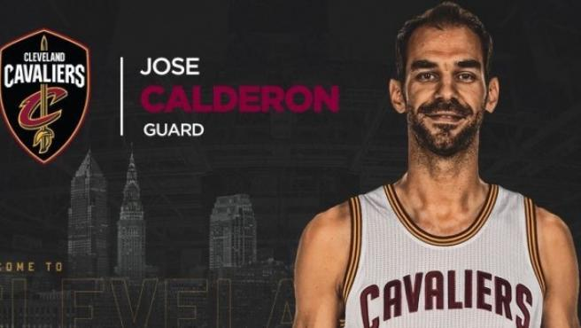 José Manuel Calderón, en el anuncio de su fichaje con los Cavaliers.
