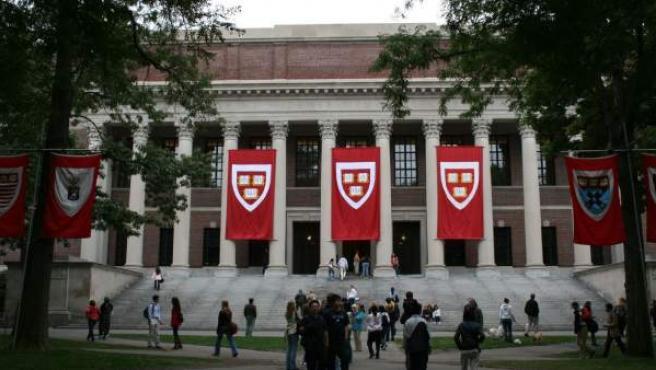 Imagen del campus de la Universidad de Harvard, Boston.