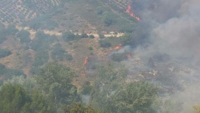 Incendio en Villanueva del Arzobispo