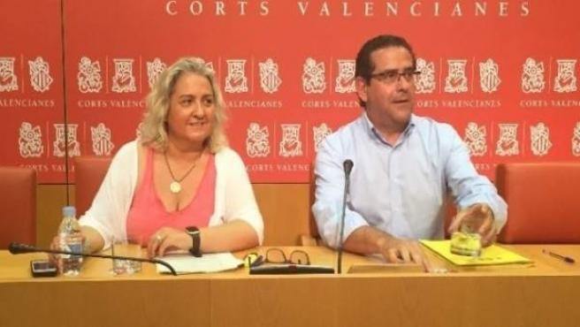 María José Ferrer i Jorge Bellver en roda de premsa