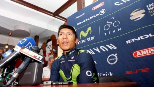 Nairo Quintana, en la jornada de descanso del Tour