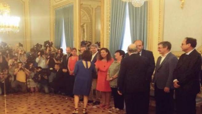 Pilar Costa y la vicepresidenta