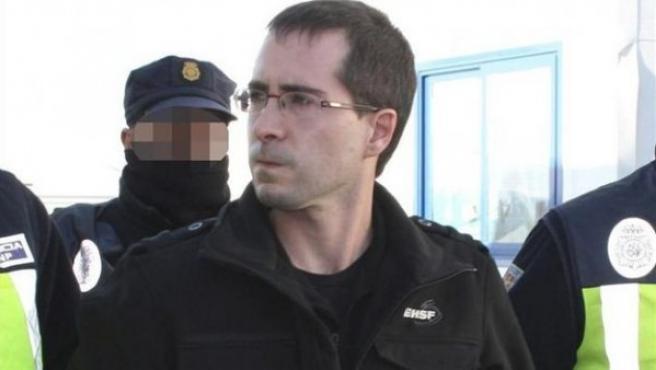 El etarra Liher Rodríguez en 2012, año en el que fue entregado a España.