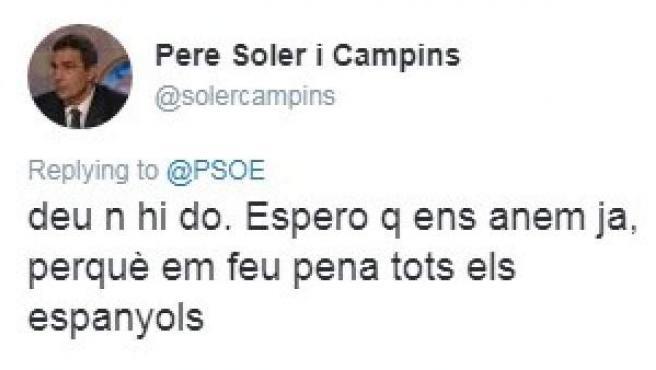 Algunos de los polémicos tuits de Pere Soler, director de los Mossos d'Esquadra.