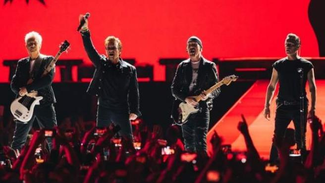 Imagen de un concierto de U2 de la gira 'The Joshua Tree Tour'.
