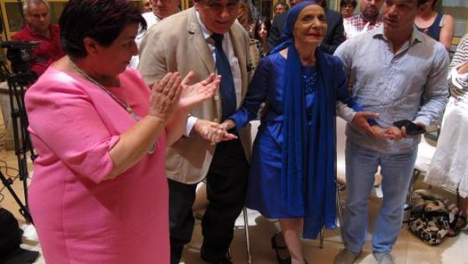 La visitante Alicia Alonso, visitante distinguida de Segovia