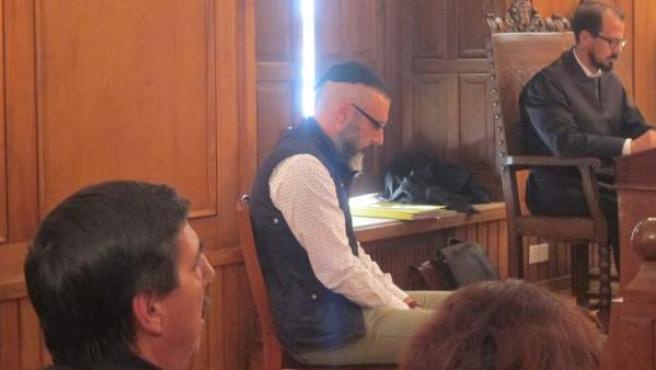 El parricida de Moraña, durante el juicio.