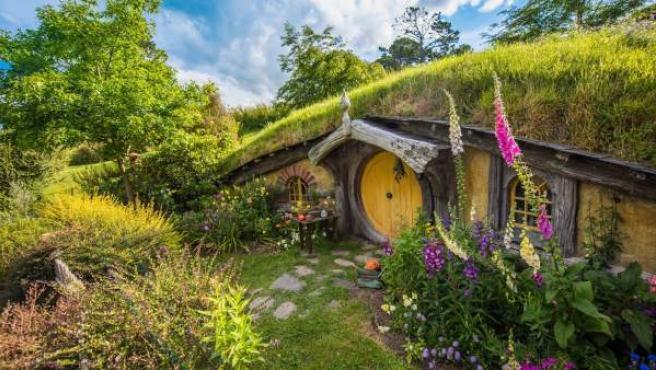 Escenarios de Hobbiton, de El señor de los anillos y El Hobbit, en Nueva Zelanda.