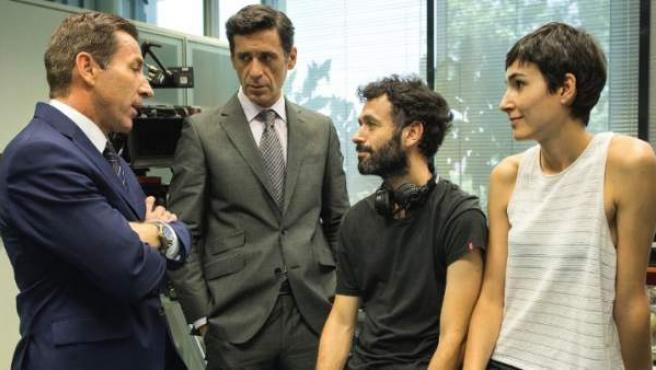 Escena del rodaje de 'El Reino', la nueva película de Rodrigo Sorogoyen.