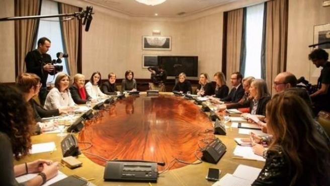 Reunión de la subcomisión de Violencia de Género en el Congreso.