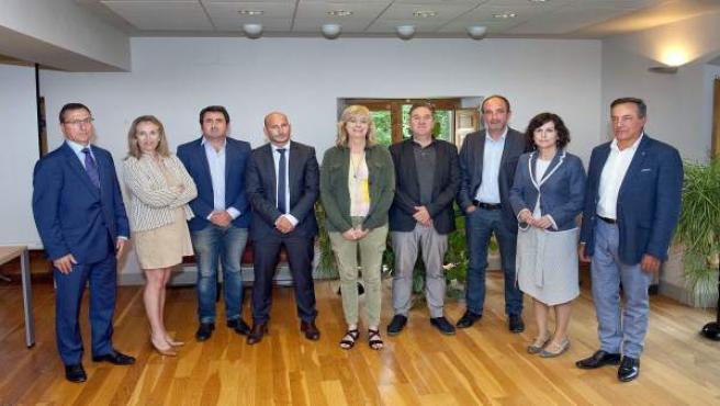 Ollo con el resto de delegados de Nueva Aquitania, Euskadi y Navarra.