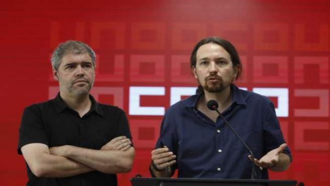 Unai Sordo y Pablo Iglesias se reúnen en Madrid