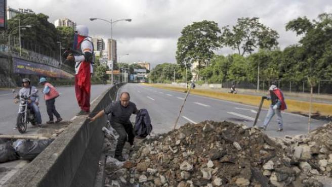 Imagen del paro general convocado en Caracas.