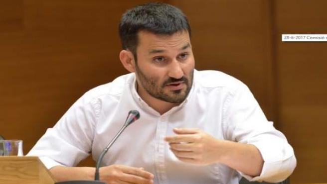 Vicent MArzà en su comparecencia en las Corts Valencianes