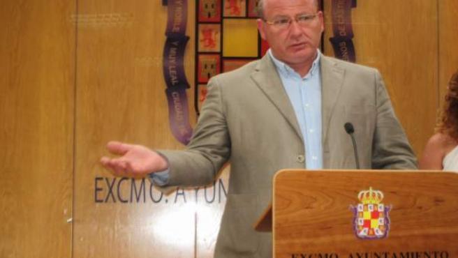 Javier Márquez durante la rueda de prensa