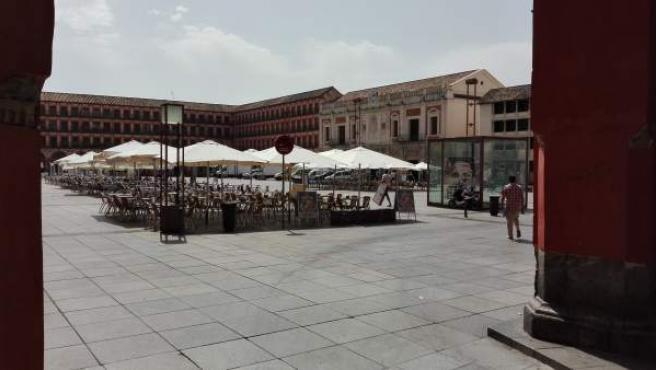 Veladores en la Plaza de la Corredera
