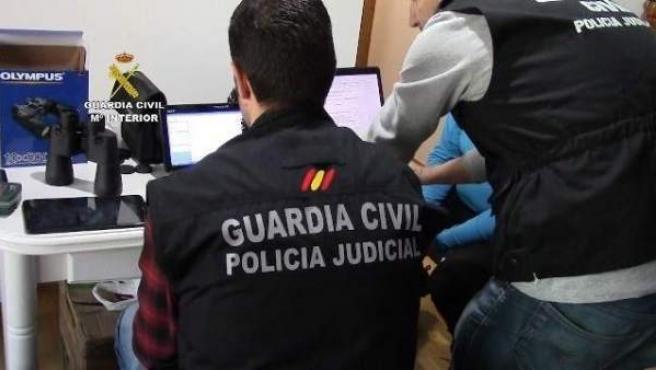 Imagen de una operación de la Guardia Civil.