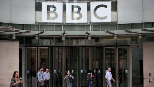 Imagen de la sede central de la BBC, en Londres.