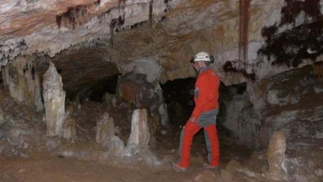 Imagen de una de las cuevas de Atapuerca.