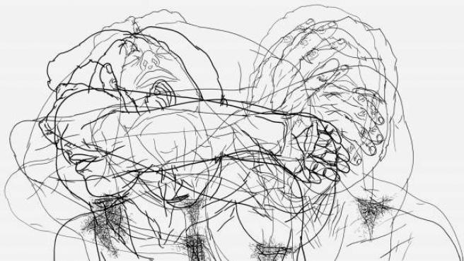 Moisés Mahiques. Tras cabeza (LIII). Tinta sobre papel. 2010