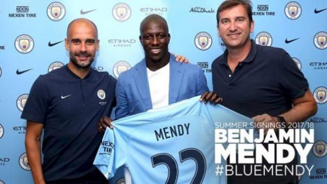 Benjamin Mendy, nueva incorporación del Manchester City de Pep Guardiola.