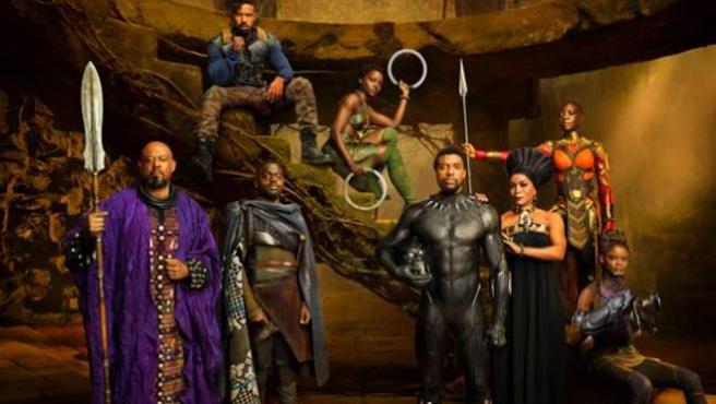 Vídeo: El reparto de 'Black Panther' se viene arriba... viendo 'Black Panther'