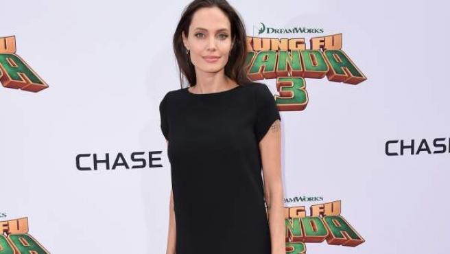 La actriz Angelina Jolie en la premier mundial del Kung Fu Panda 3.