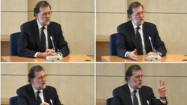 Mariano Rajoy, durante su testifical por la Gürtel.