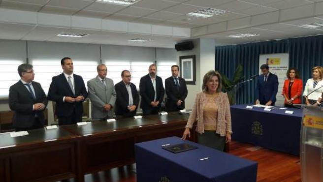 Valladolid: Salguiero y los seis alcaldes