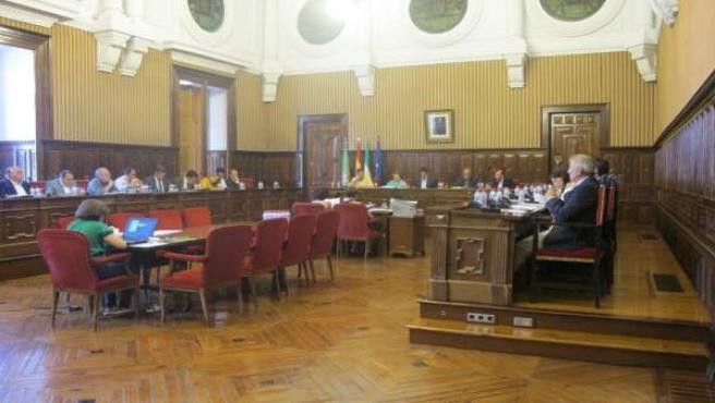 Celebración del pleno de Diputación