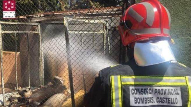 Explosió d'una botella de gas en Alcossebre