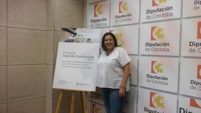 Dolores Amo en la presentación del proyecto 'Segunda Oportunidad' el 14 de julio