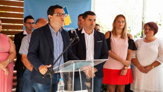 Pablo Rodríguez y Alejandro Marichal en presentación de la Ejecutiva local de CC