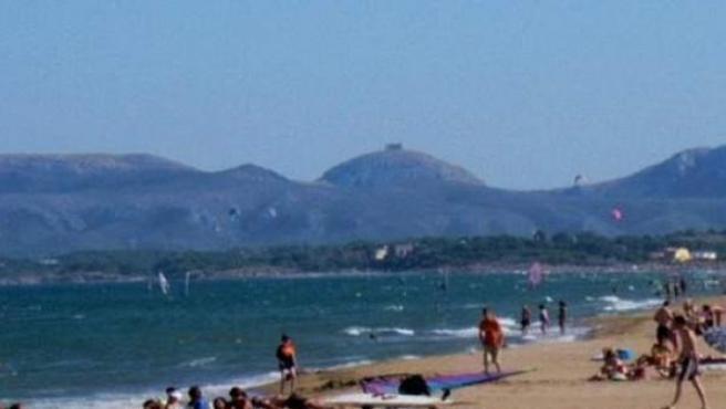 Imagen de la playa de Sant Pere Pescador.